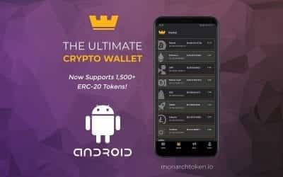 Monarch's Android Wallet Now Supports 1,500+ ERC20 Tokens