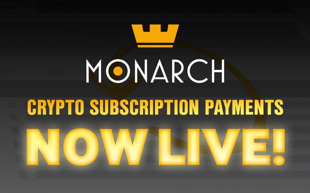 monarch launches worlds first decentralized recurring crypto payments system